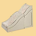Pet Ramp Extension mates to Large Pet Ramp to reach your bed
